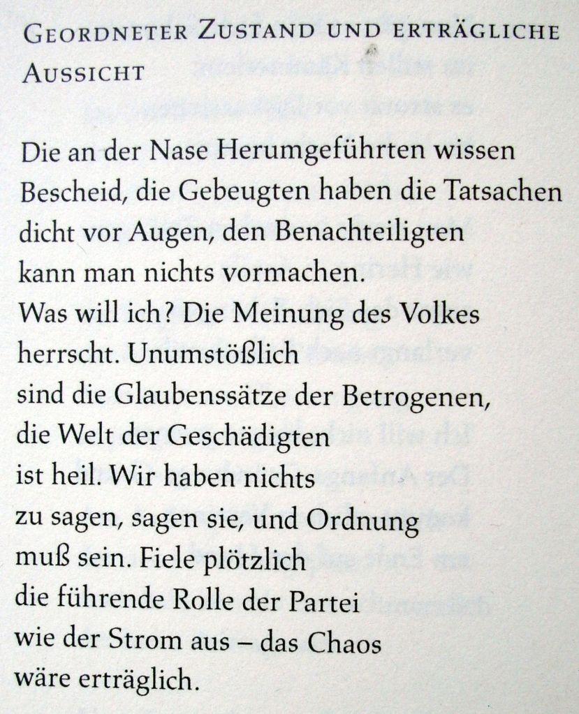 Waldemar Dege - Geordneter Zustand und erträgliche Aussicht - 1974