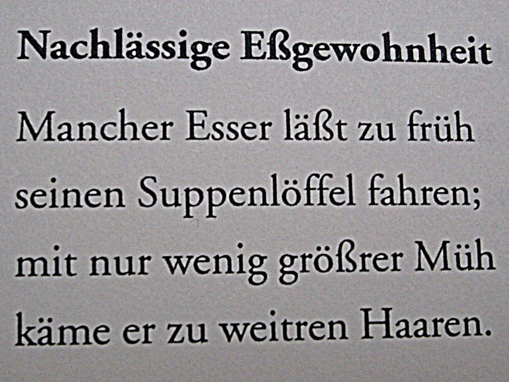 Waldemar Dege - Nachlässige Eßgewohnheit